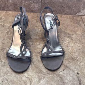 Size 8.5 Dark Silver Heels